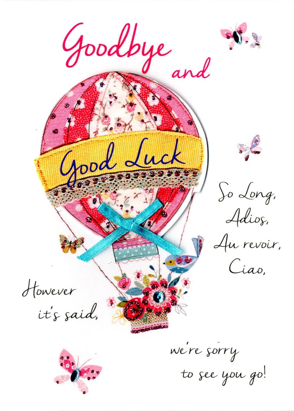 Goodbye & Good Luck Greeting Card