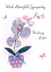 With Heartfelt Sympathy Greeting Card