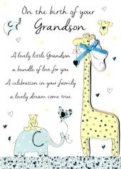 New Baby Grandson Congratulations Greeting Card