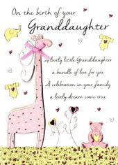 New Baby Granddaughter Congratulations Greeting Card
