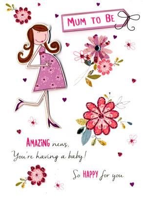 Mum To Be Expecting A Baby Greeting Card