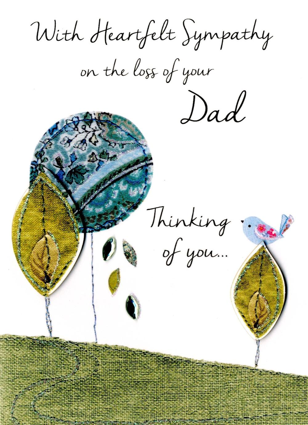 Sympathy On Loss Of Your Dad Greeting Card