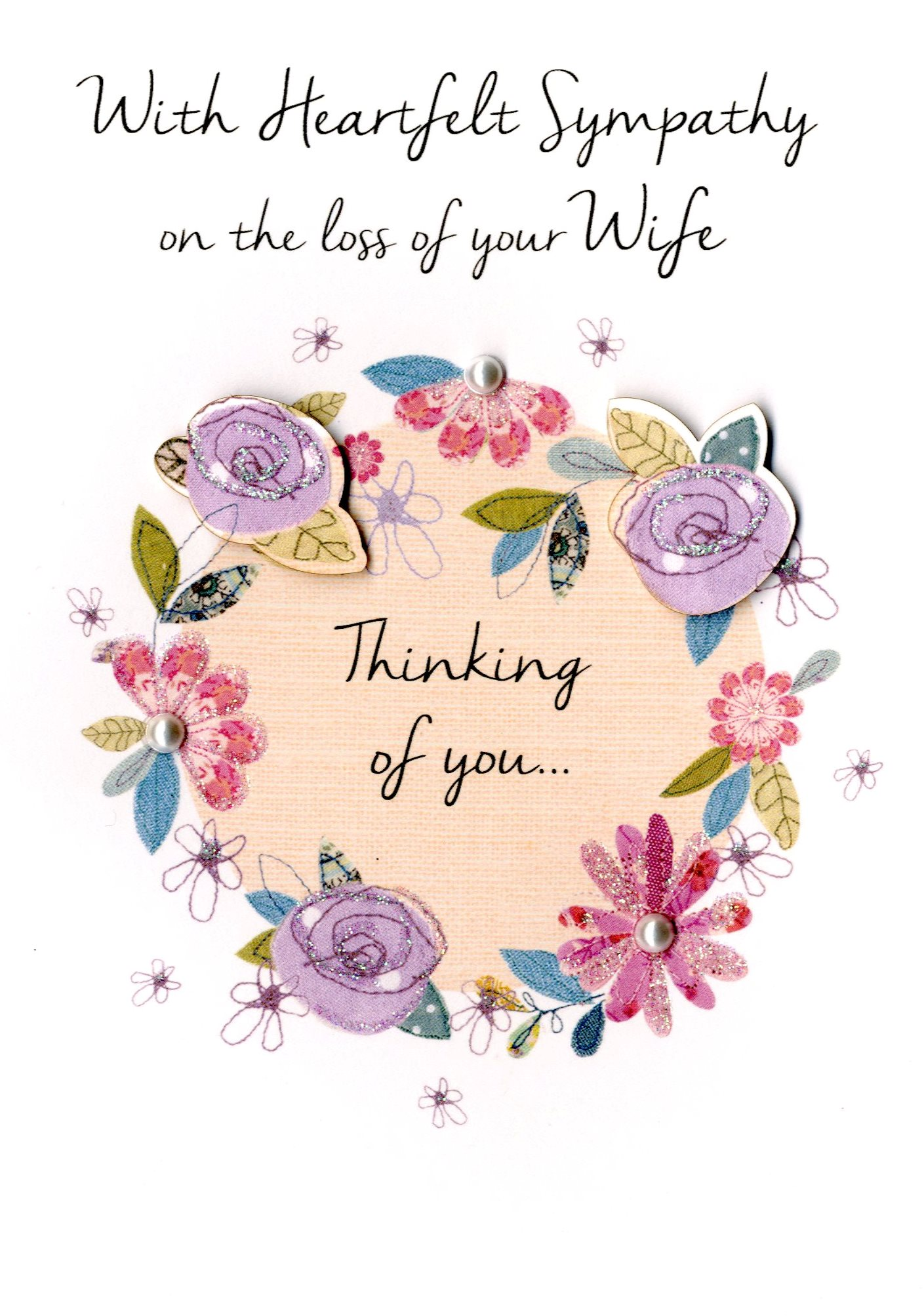 Sympathy on loss of your wife greeting card cards love kates sympathy on loss of your wife greeting card m4hsunfo