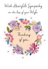 Sympathy On Loss Of Your Wife Greeting Card