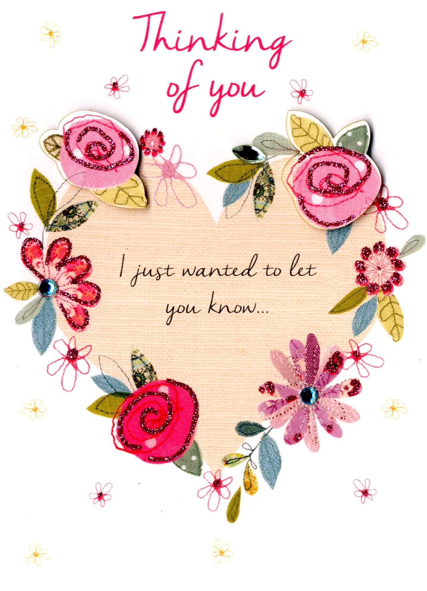 Thinking Of You Greeting Card Cards Love Kates
