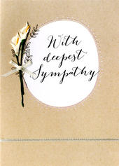 With Deepest Sympathy Embellished Lillies Greeting Card
