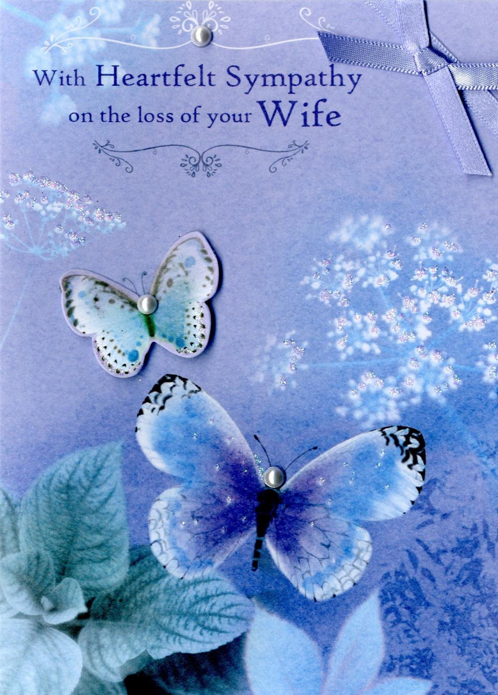 Loss Of Your Wife Heartfelt Sympathy Greeting Card