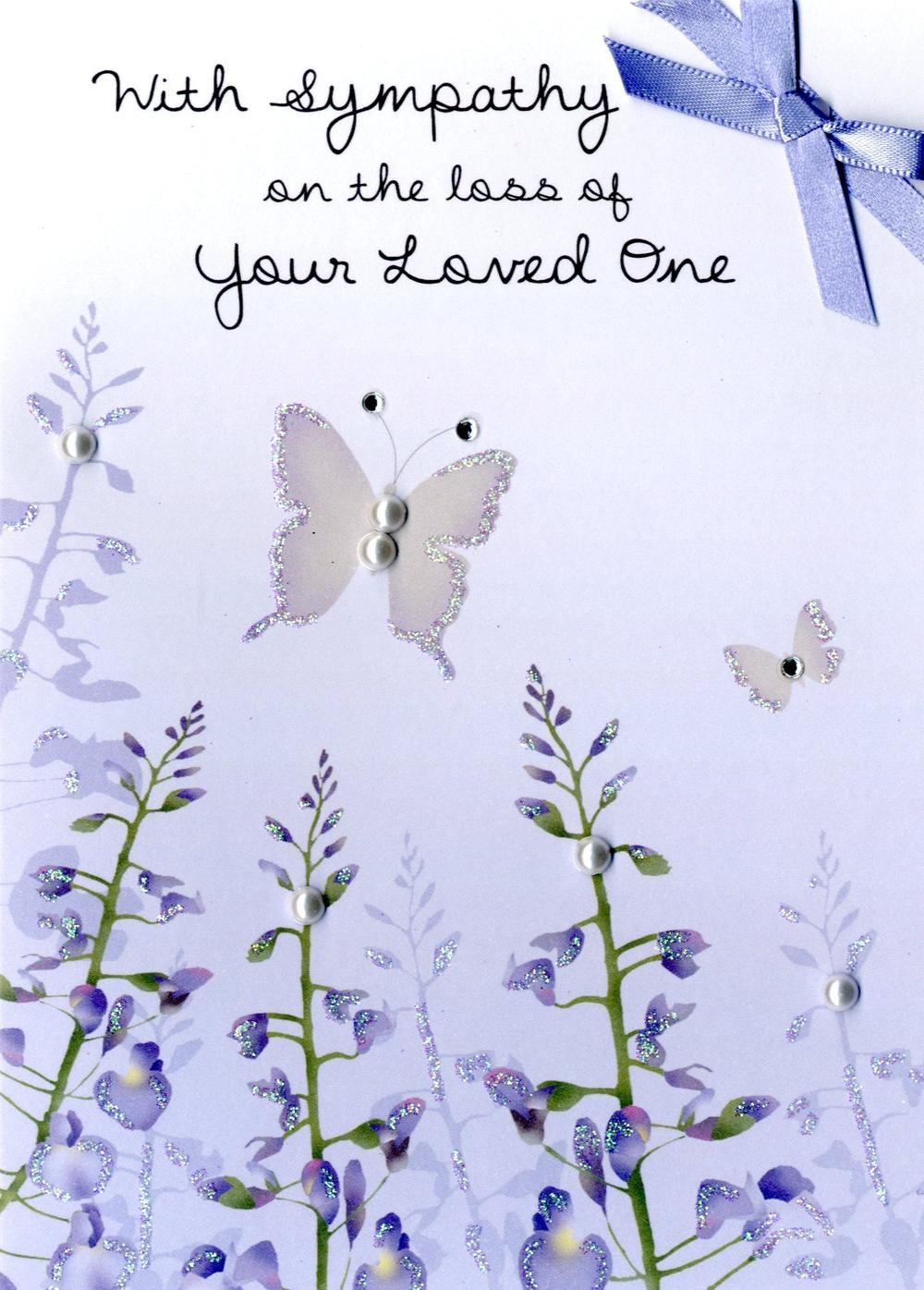 With Sympathy On The Loss Of Your Loved One Greeting Card