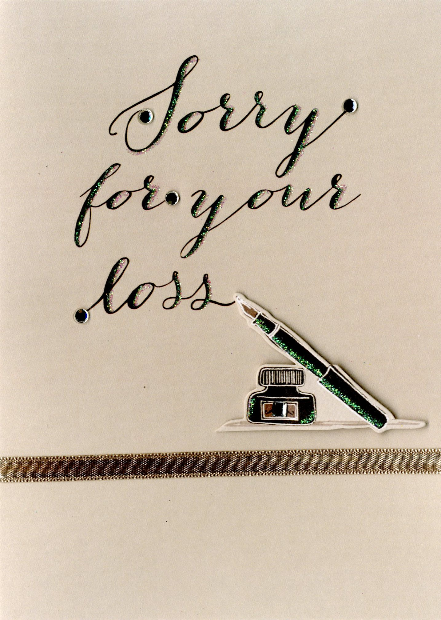 Sorry For Your Loss Sympathy Greeting Card Cards Love Kates