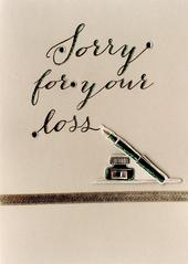 Sorry For Your Loss Sympathy Greeting Card