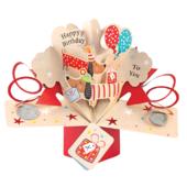 Sausage Dog Birthday Pop-Up Greeting Card