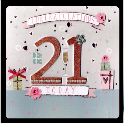 Second Nature 21st Birthday Keepsake Card