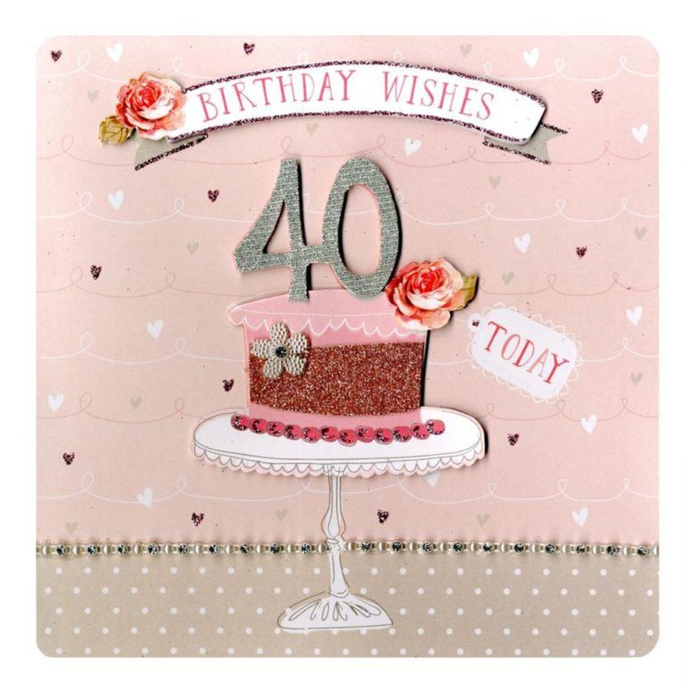 Second Nature 40th Birthday Keepsake Card