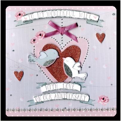 Wonderful Wife Anniversary Keepsake Card