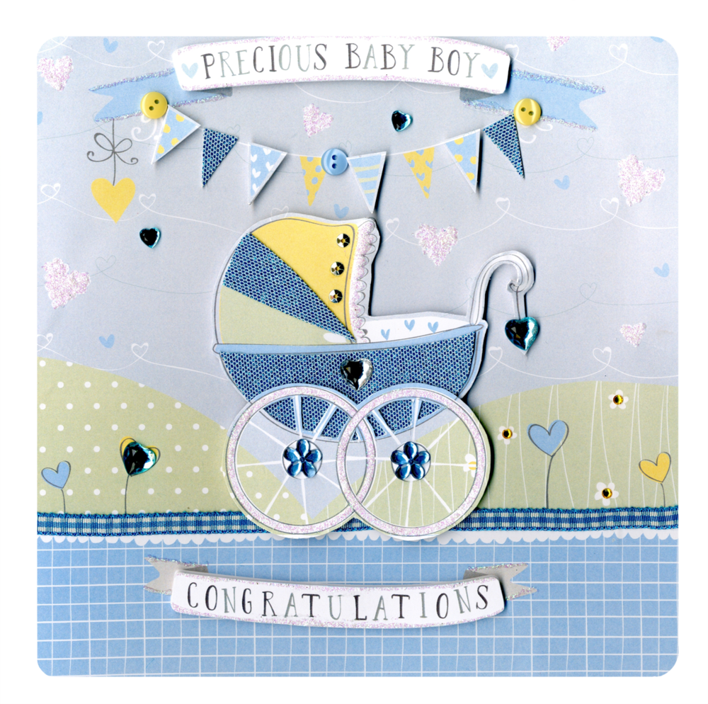 Precious New Baby Boy Keepsake Card