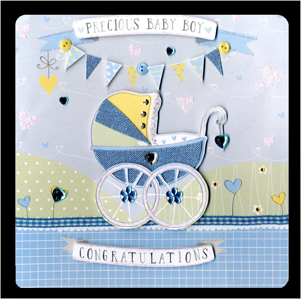 Precious New Baby Boy Keepsake Card