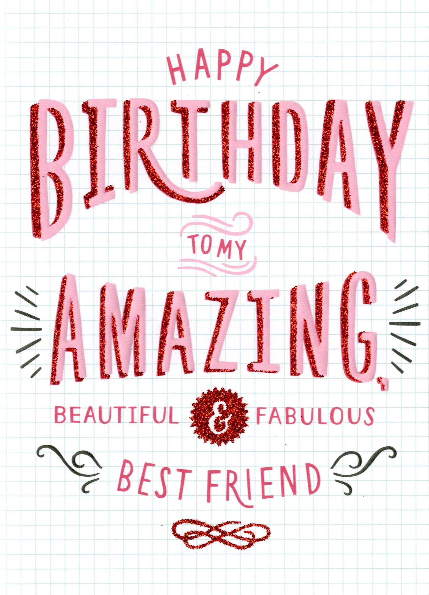 Amazing Best Friend Birthday Card Cards – Best Friend Birthday Card