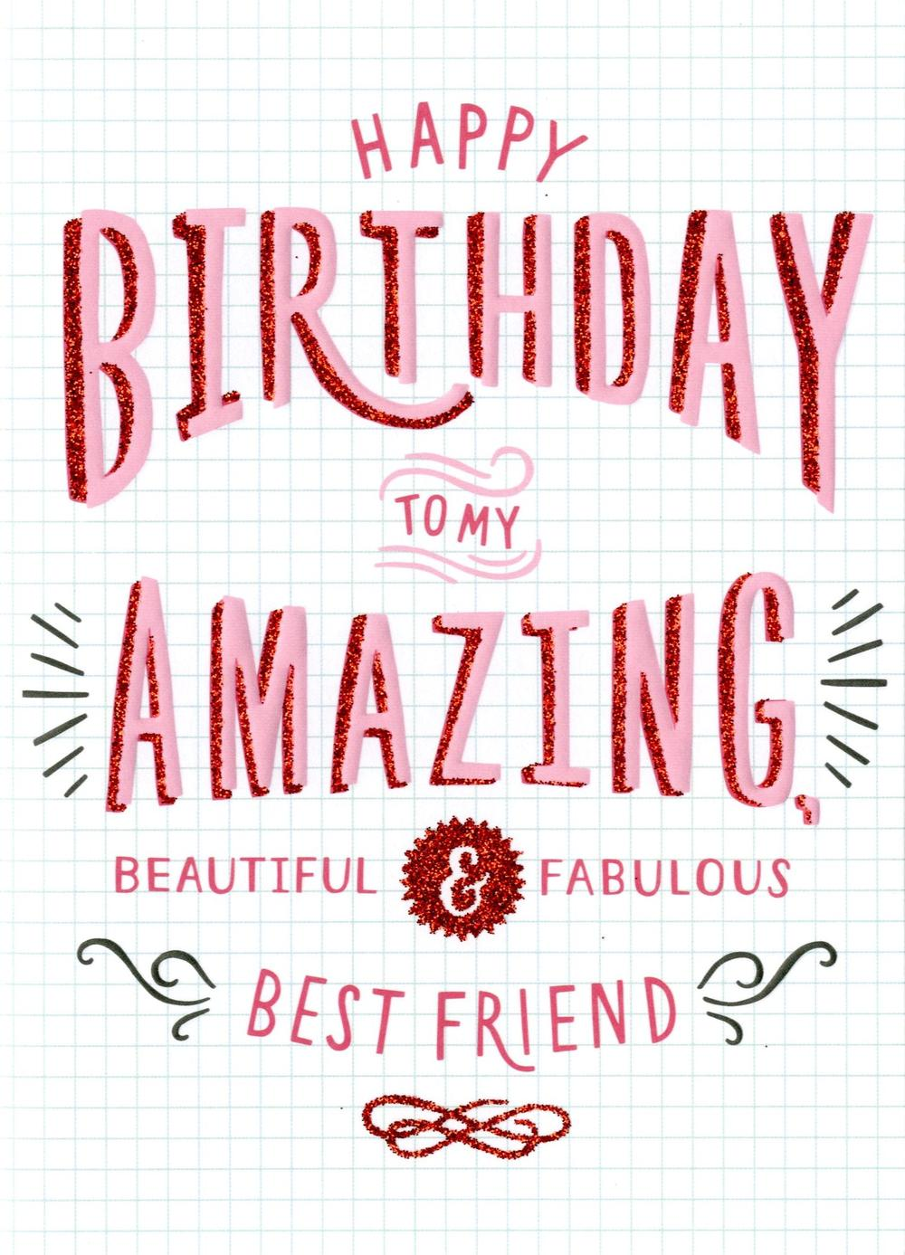 Amazing Best Friend Birthday Card