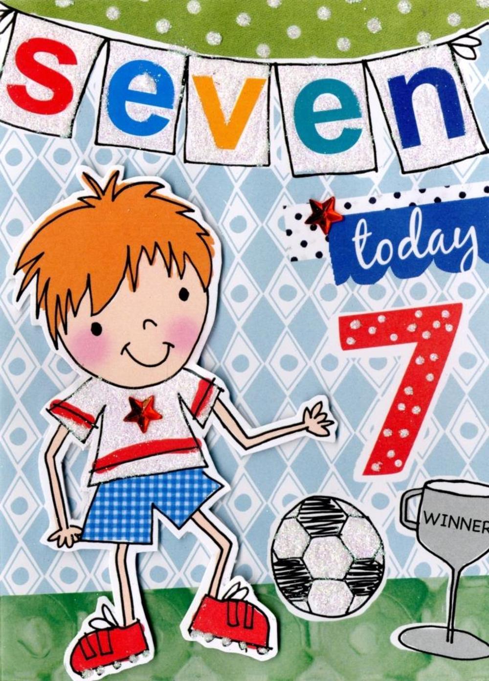Boys 7th Birthday Card Seven Today Cards – Birthday Cards for Boys