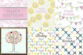 Assorted Pack of 6 Pretty Birthday Greeting Cards