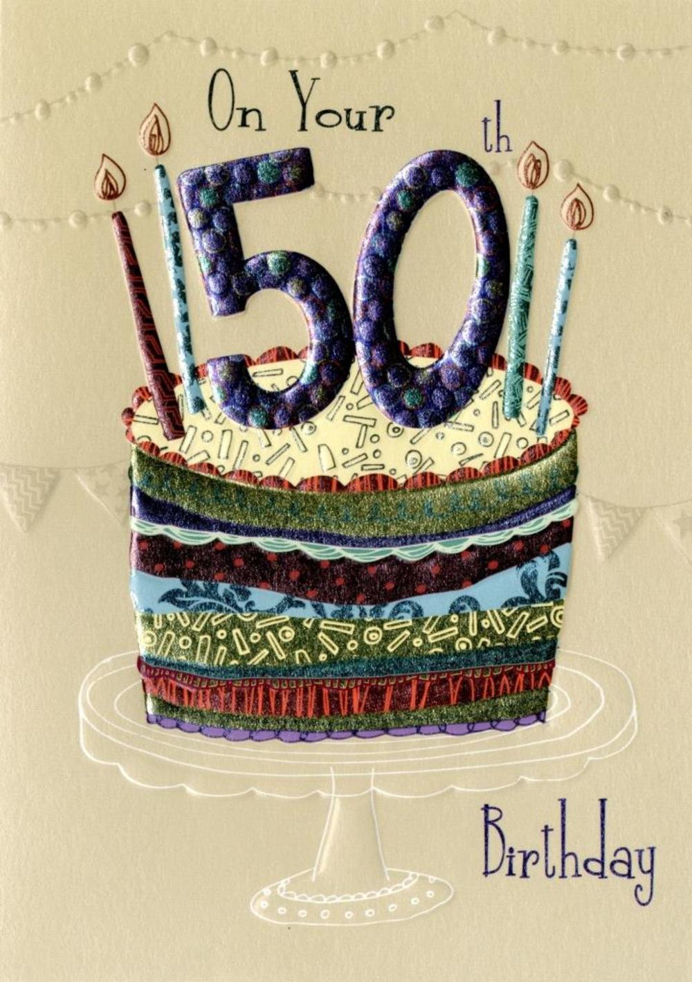On Your 50th Birthday Greeting Card