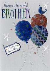 Wonderful Brother Birthday Greeting Card