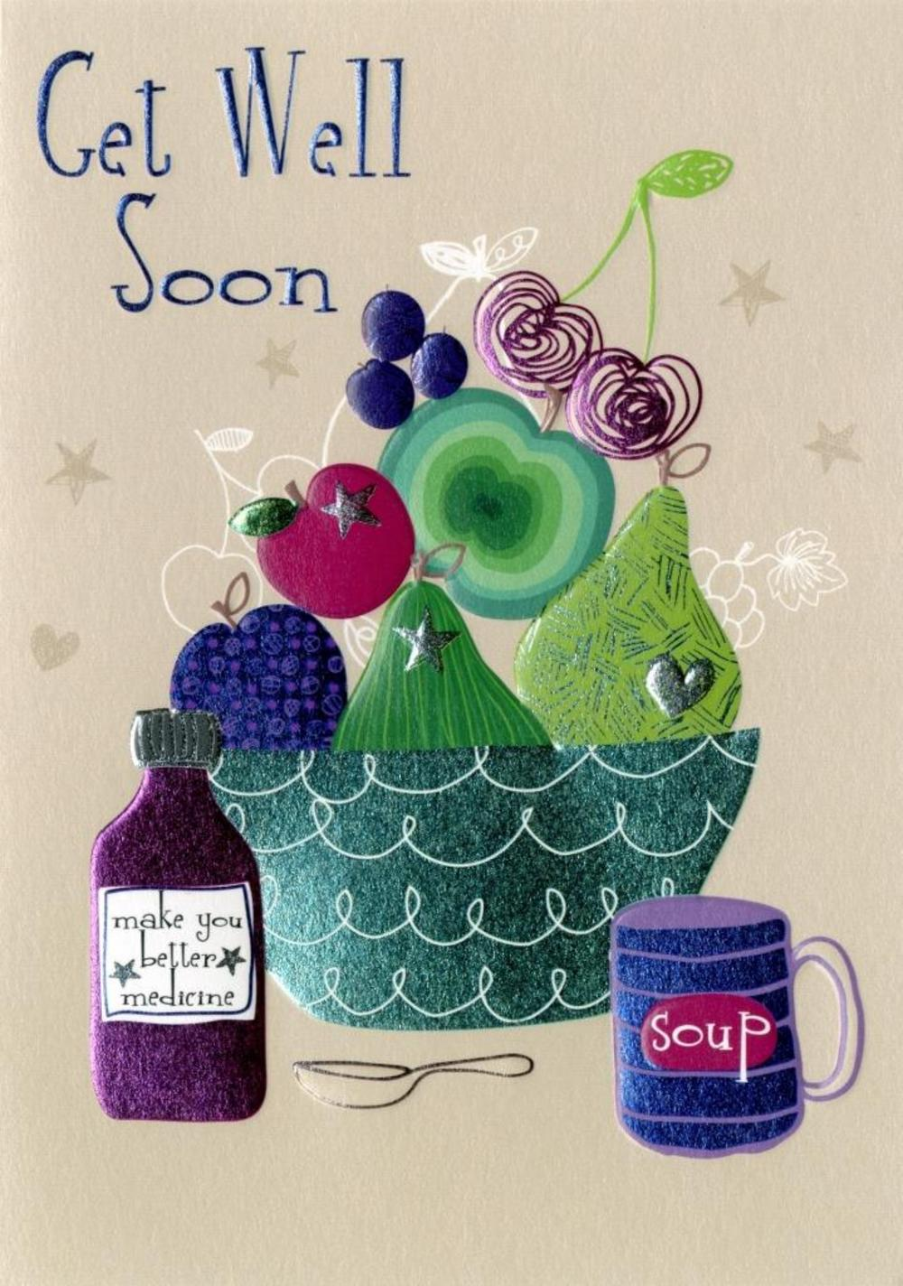 Get Well Soon Greeting Card Blank Inside