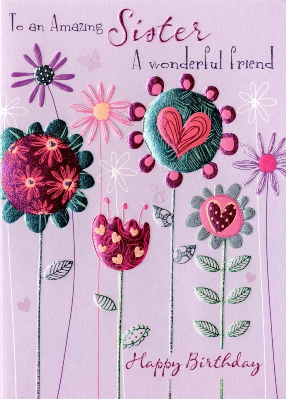 Amazing Sister Birthday Greeting Card