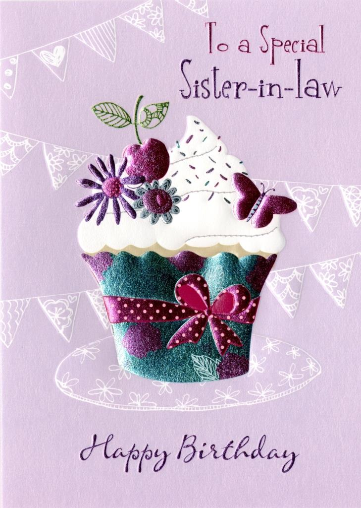 Special sister in law birthday greeting card cards love kates special sister in law birthday greeting card bookmarktalkfo Image collections