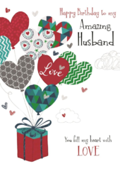 Amazing Husband Birthday Greeting Card