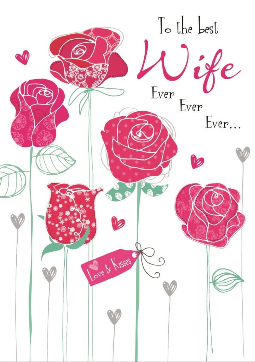 Best wife ever ever ever birthday greeting card cards love kates best wife ever ever ever birthday greeting card kristyandbryce Choice Image