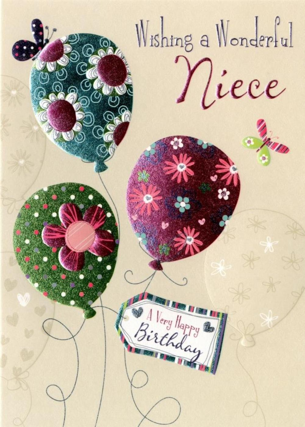 Wonderful Niece Birthday Greeting Card