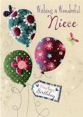 Wonderful Niece Birthday Greeting Card