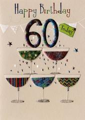Happy 60th Birthday Greeting Card