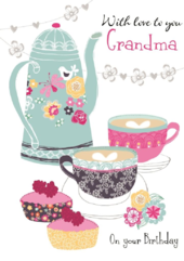 With Love Grandma Birthday Greeting Card