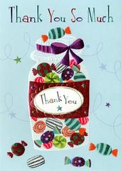 Thank You So Much Greeting Card Blank Inside