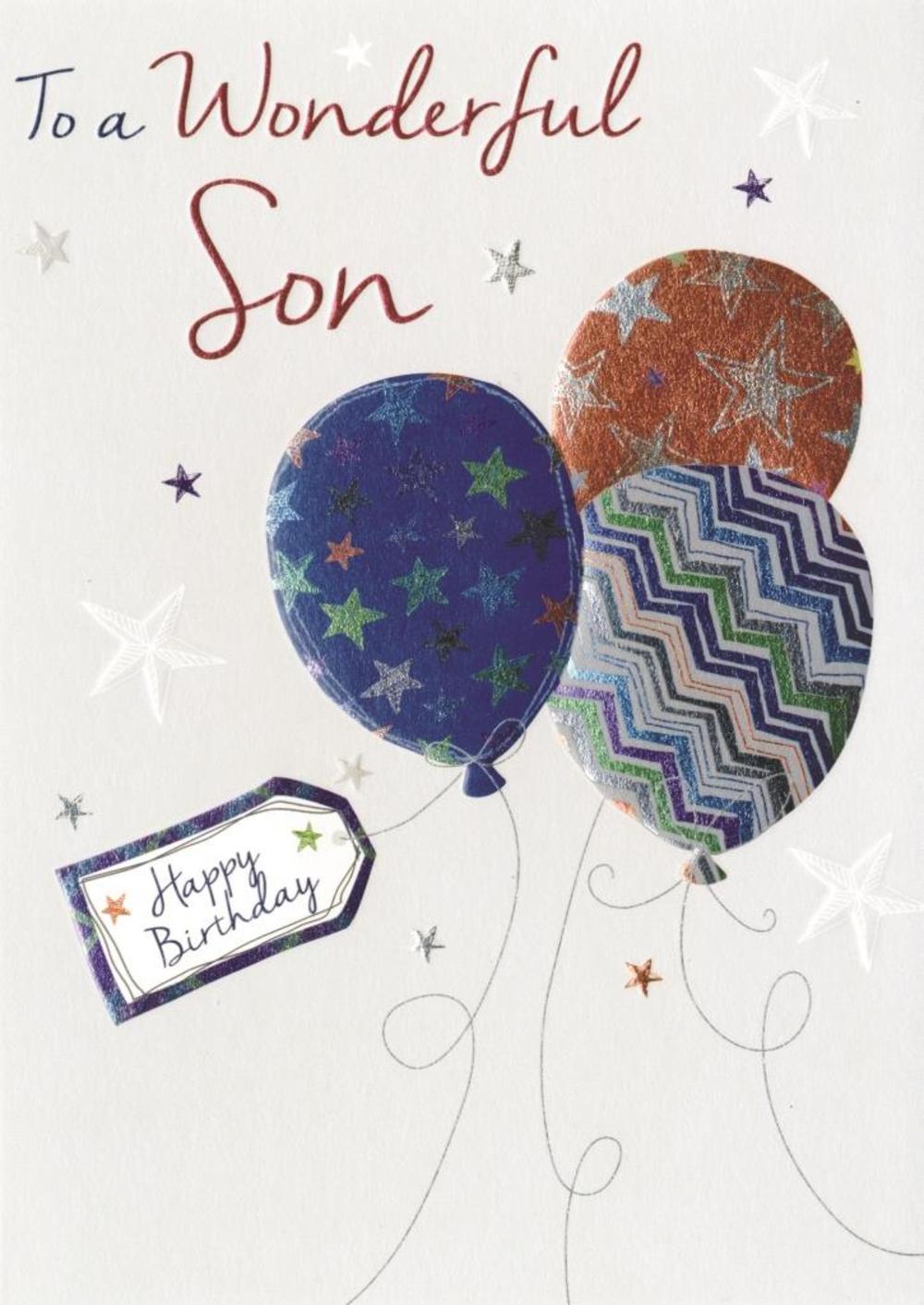 Wonderful Son Birthday Greeting Card