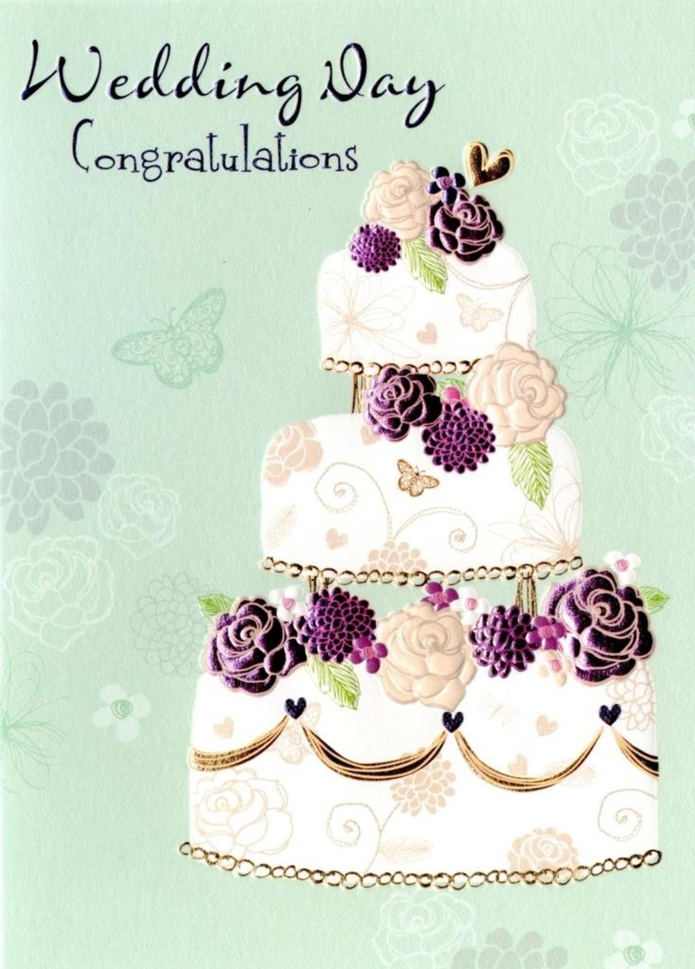 Wedding Day Congratulations Greeting Card