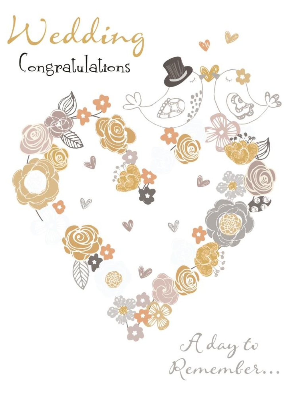 Wedding Day Congratulations Greeting Card Cards Love Kates