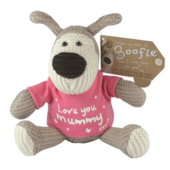 "Boofle Love You Mummy 5"" Sitting Plush Wearing T-Shirt"