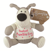 "Boofle Bestest Auntie Ever 5"" Sitting Plush Wearing T-Shirt"