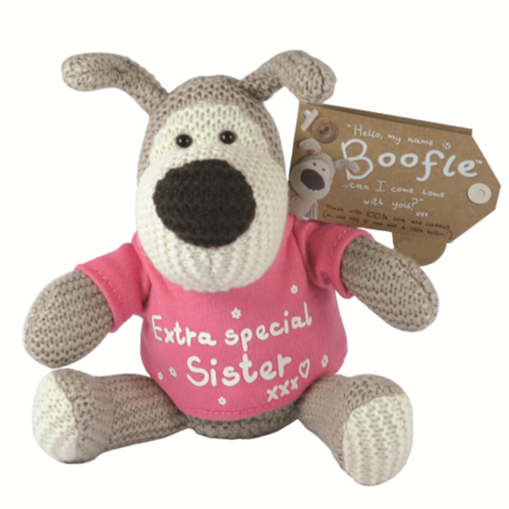 "Boofle Extra Special Sister 5"" Sitting Plush Wearing T-Shirt"