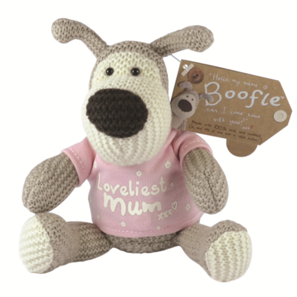"Boofle Loveliest Mum 5"" Sitting Plush Wearing T-Shirt"