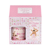 Boofle Birthday Girl Mug & Chocolate Bar Gift Set