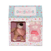 Boofle Lovely Daughter Fluffy Socks & Mini Boofle Keyring Gift Set