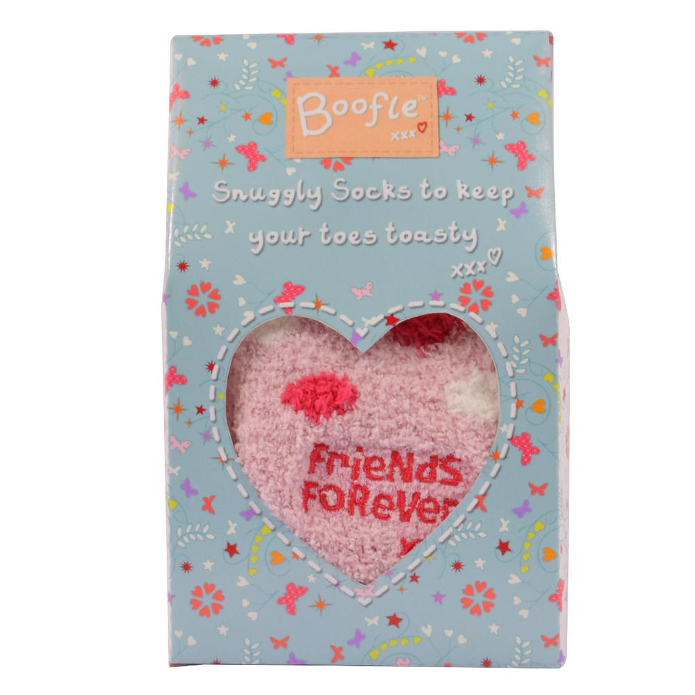 Boofle Friends Forever Fluffy Slipper Socks In A Gift Box