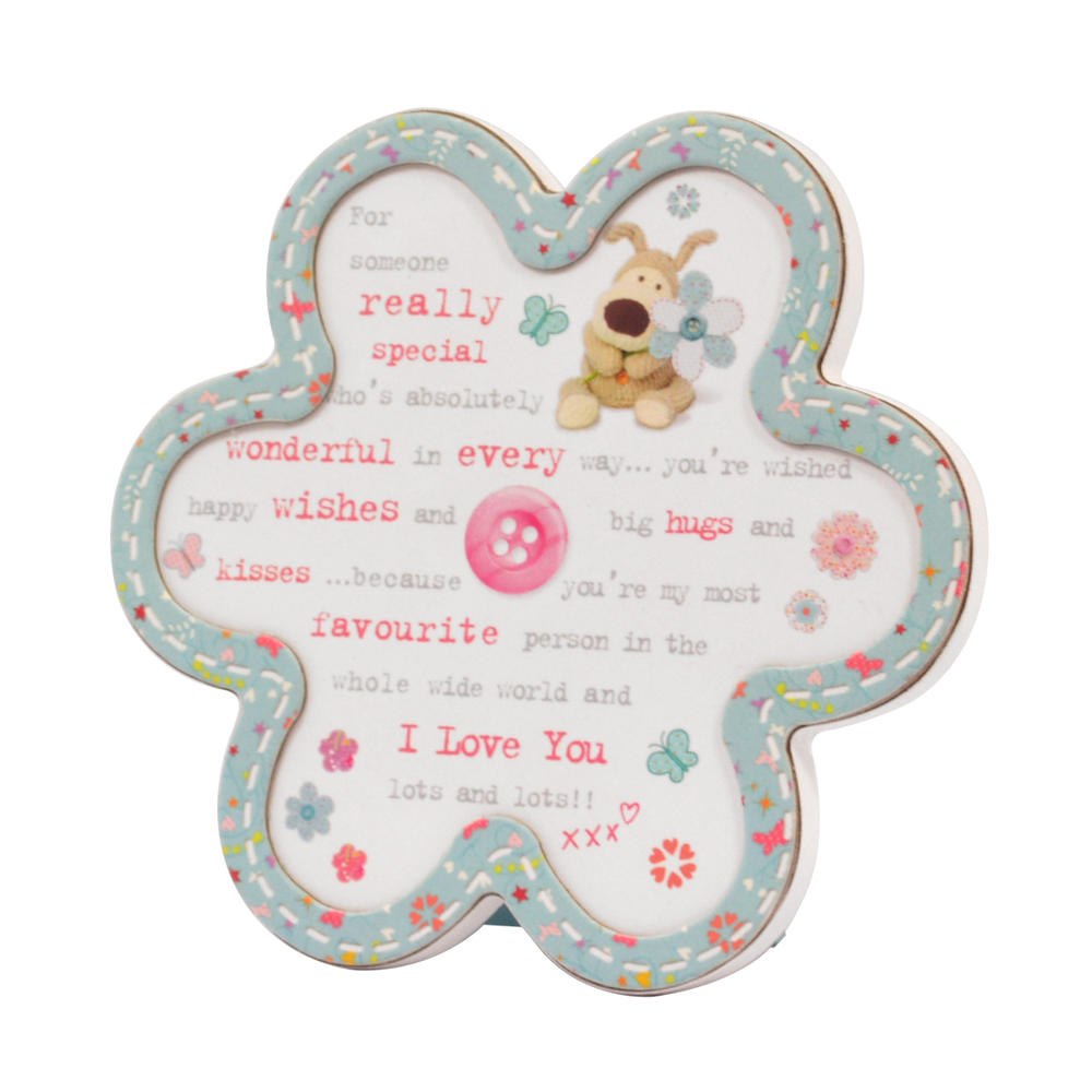 Boofle Wooden Flower Shaped Someone Special Plaque