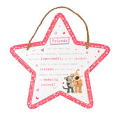Boofle Wooden Star Shaped Amazing Friend Plaque