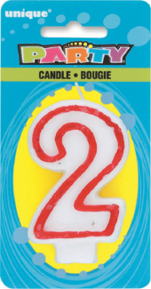 Number 2 Birthday Cake Candle