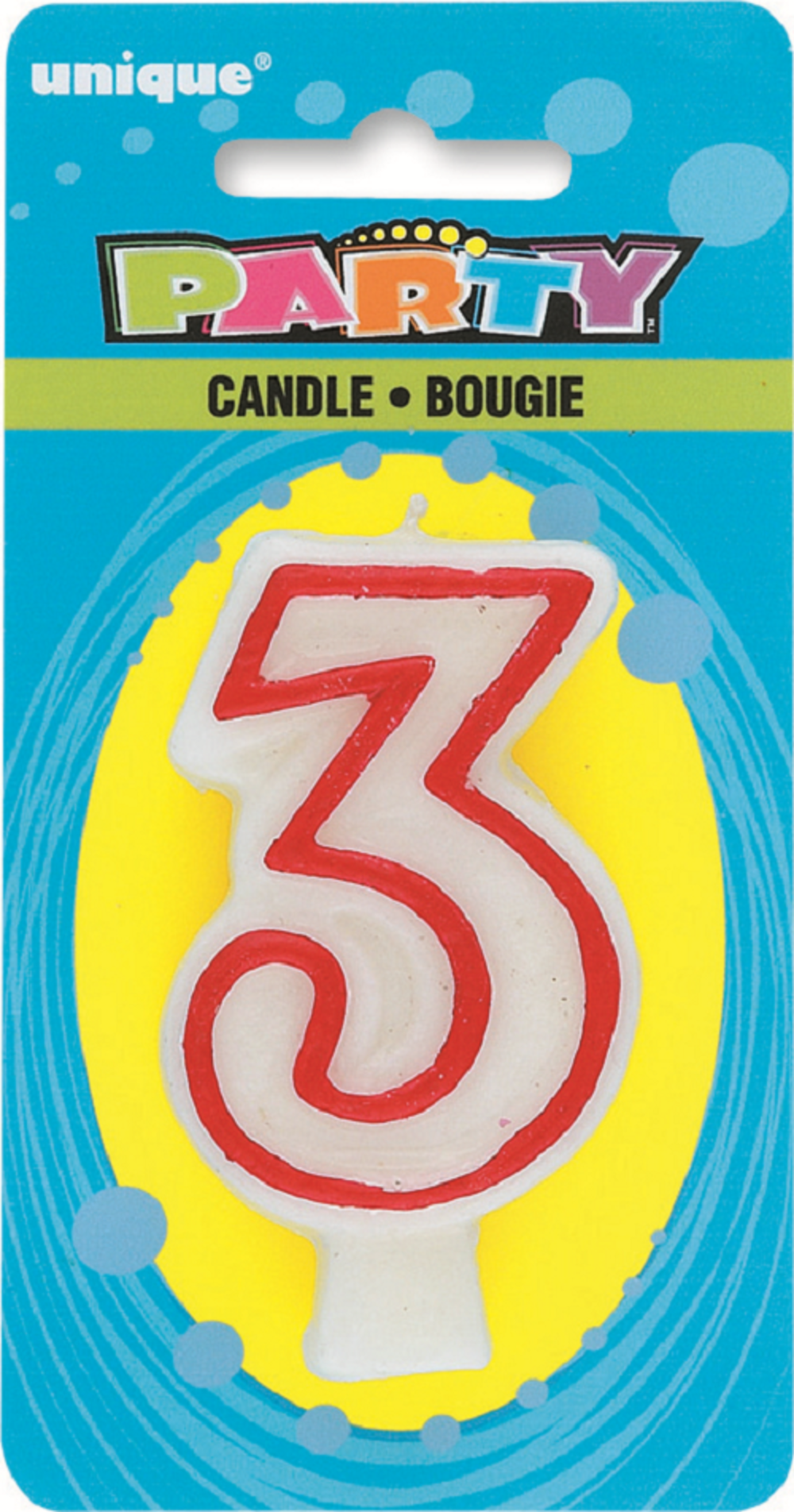 Number 3 Birthday Cake Candle